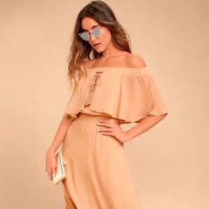 Shortened Touch The Sun Off The Shoulder Dress